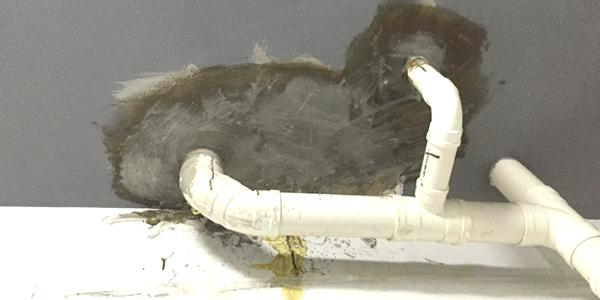 廚衛下水管旁滲漏水解決方案